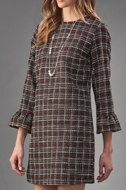 Charlie Paige Tweed Shift Dress - Front cropped