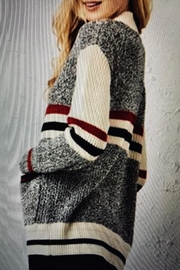 Charlie Paige Varsity Cardigan Sweater - Front full body