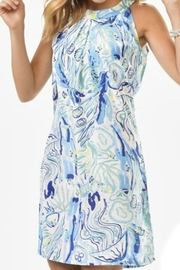 Charlie Paige Watercolor Print Dress - Product Mini Image
