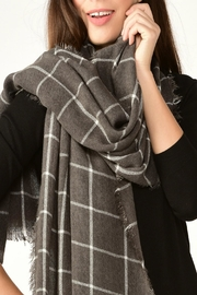 Charlie Paige Window Pane Scarf - Front cropped