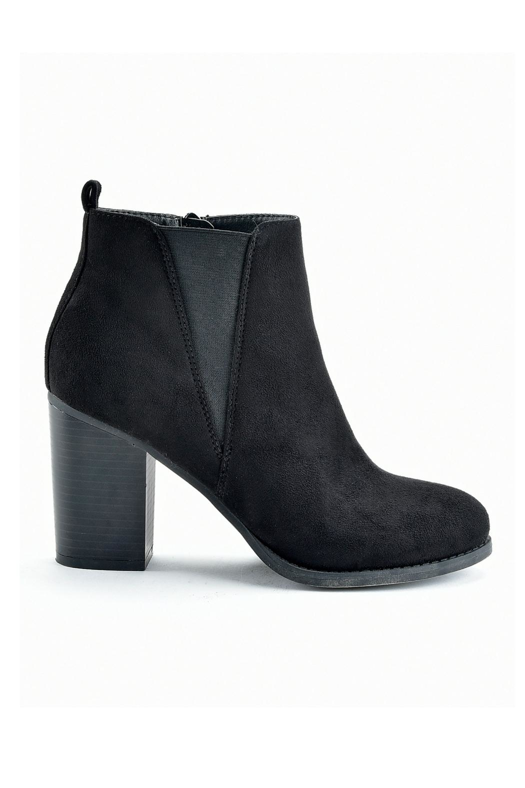 Charlie Paige Zippered Ankle Bootie - Front Cropped Image