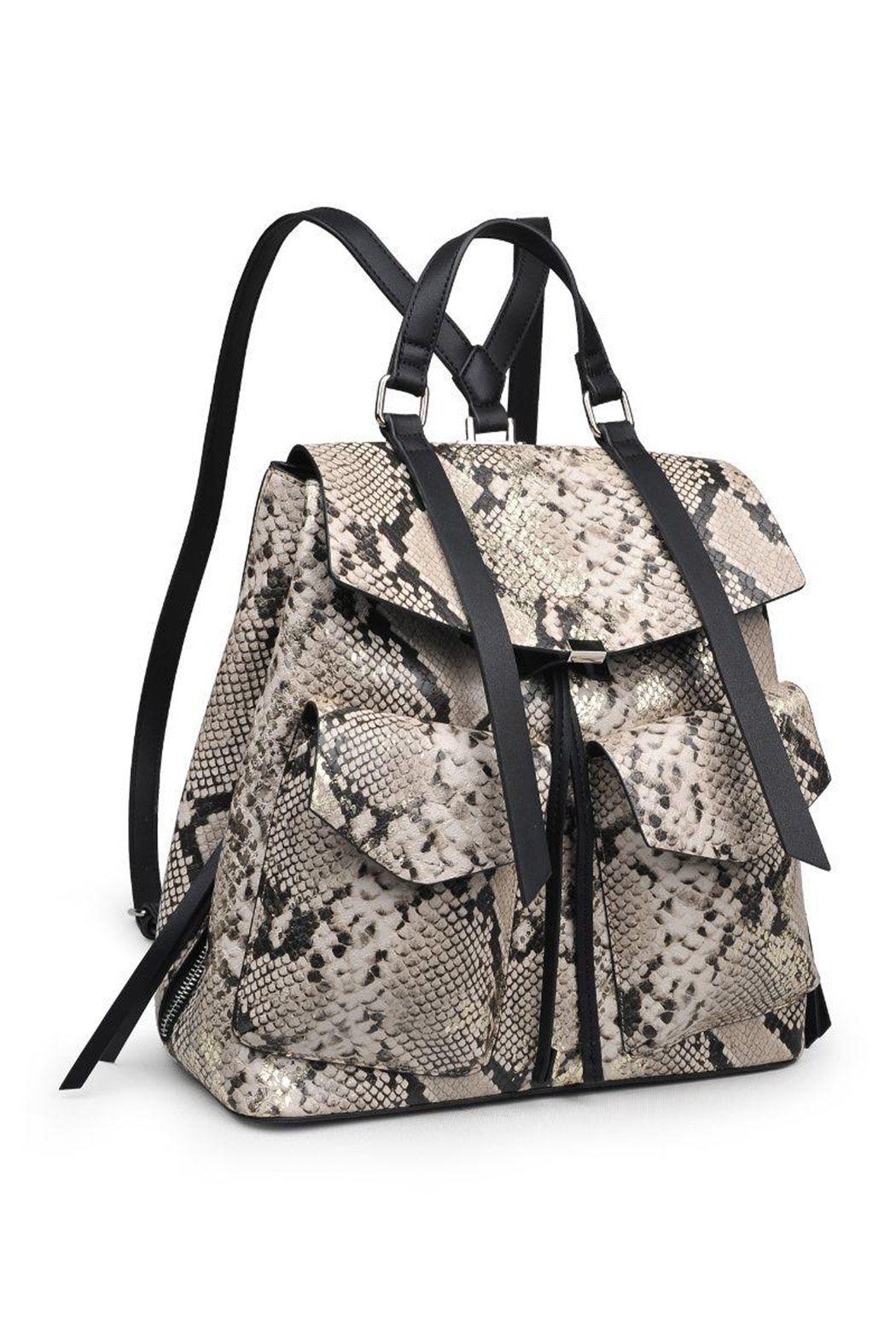 Urban Expressions Charlize Vegan Leather Backpack - Front Full Image