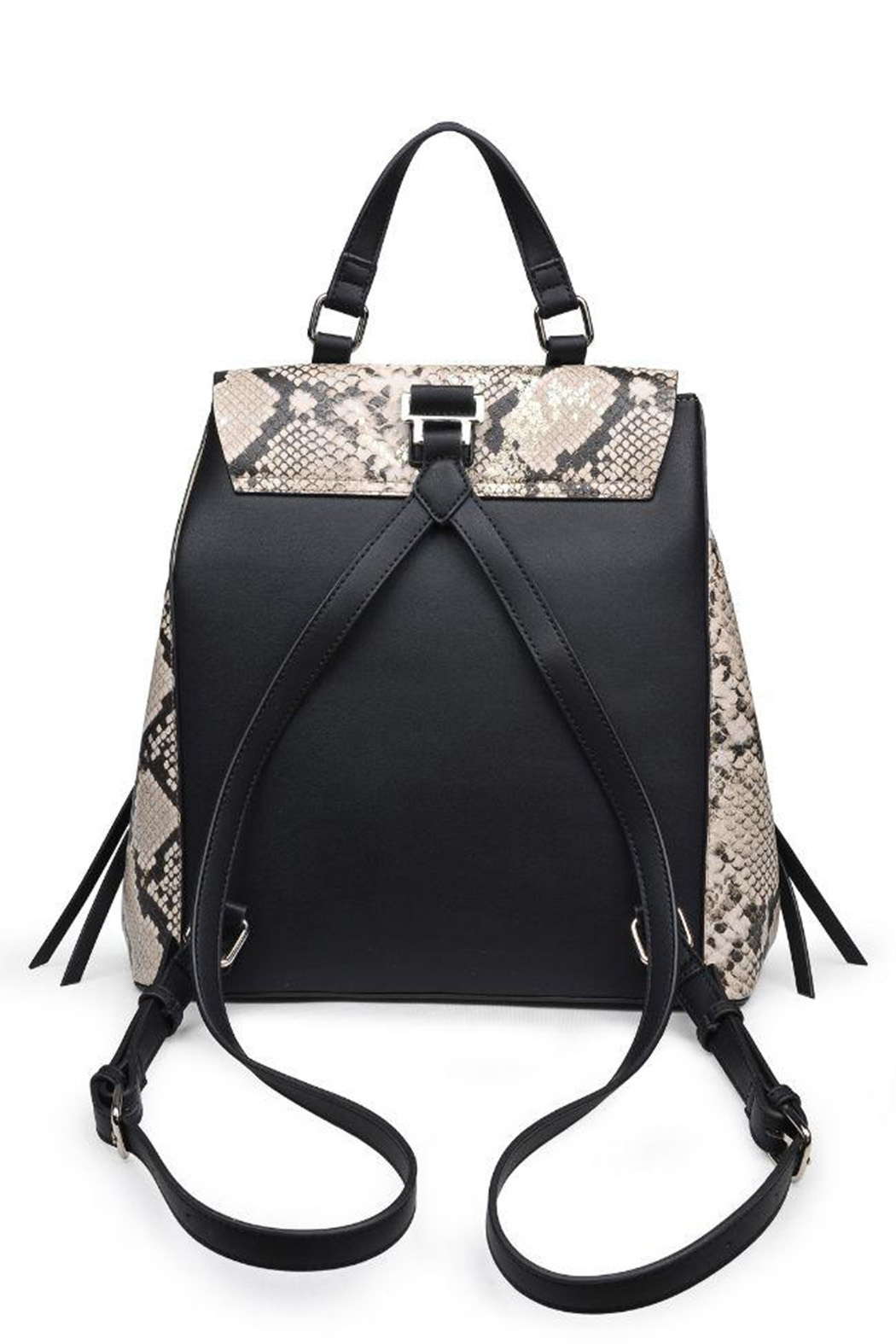 Urban Expressions Charlize Vegan Leather Backpack - Back Cropped Image