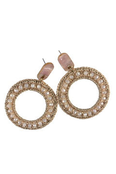 Fabulina Designs Charlotte Crochet Hoop Earrings - Product List Image