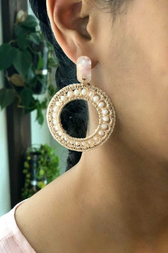 Fabulina Designs Charlotte Crochet Hoop Earrings - Alternate List Image