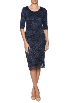 Shoptiques Product: Navy Lace Overlay