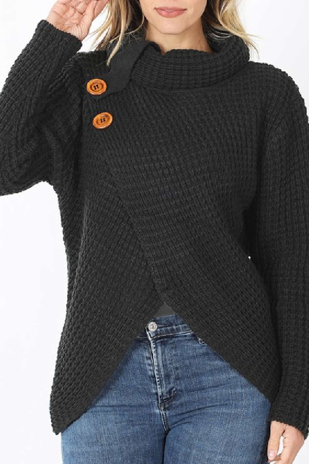 Zenana Charlotte Sweater - Side Cropped Image
