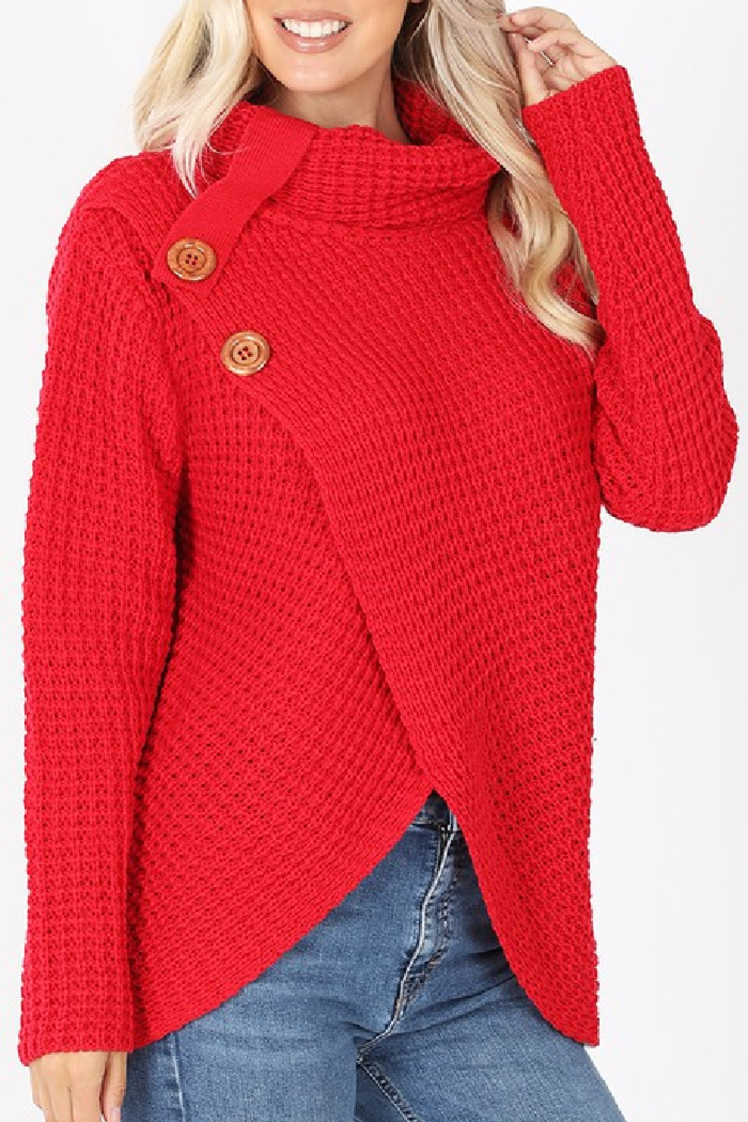 Zenana Charlotte Sweater - Front Full Image