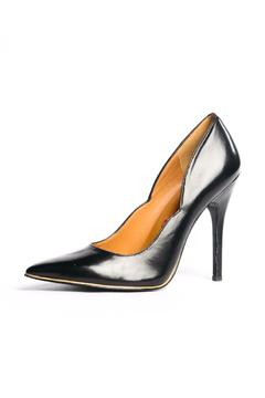 Charly by Amar Black Gold Pumps - Product List Image