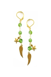 Malia Jewelry Charm Peridot Earrings - Product Mini Image
