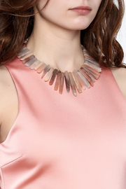 Charmed by JLM Agate Graduated Necklace - Back cropped