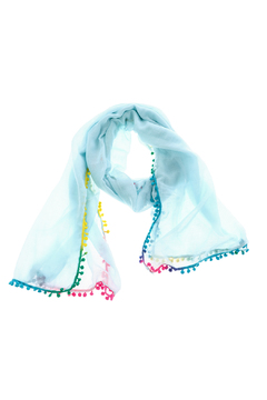 Shoptiques Product: Blue Pop-Poms Scarf