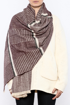 Charmed by JLM Burgundy Tweed Scarf - Alternate List Image