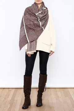 Charmed by JLM Burgundy Tweed Scarf - Product List Image