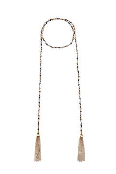 Shoptiques Product: Crystal Bead Tassel Neck