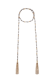 Charmed by JLM Crystal Bead Tassel Neck - Product Mini Image