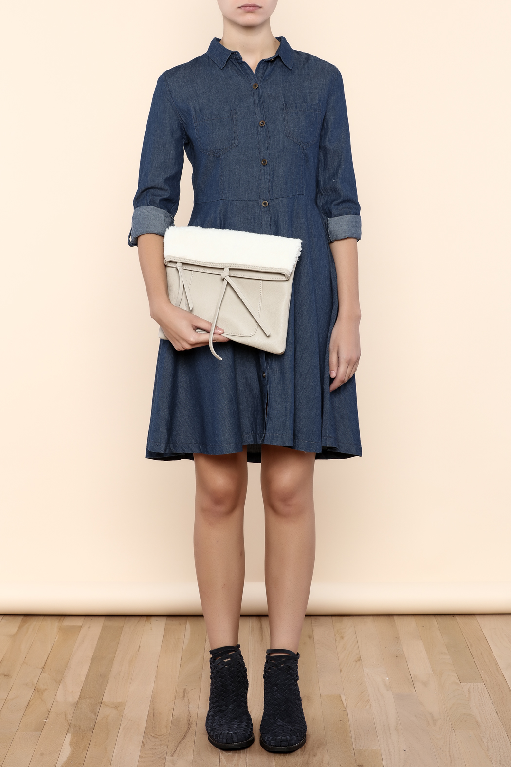 Charmed by JLM Faux Leather Clutch - Back Cropped Image