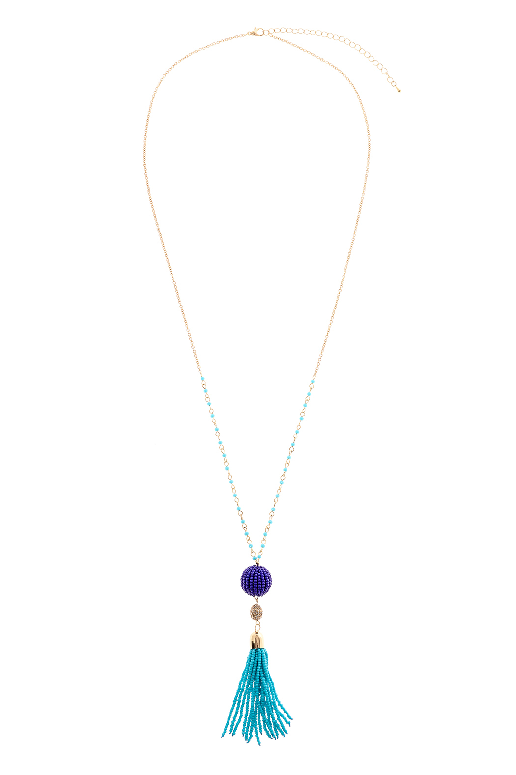 Charmed by JLM Turquoise Tassel Necklace - Main Image