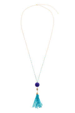 Charmed by JLM Turquoise Tassel Necklace - Product List Image