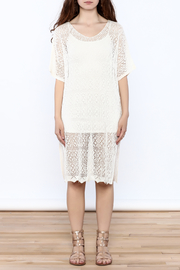 Charmed by JLM Ivory Crochet Cover Up - Front cropped