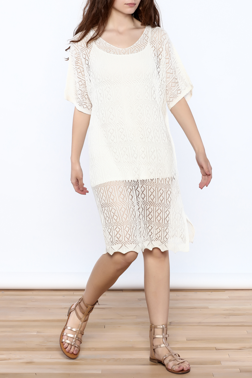 Charmed by JLM Ivory Crochet Cover Up - Main Image