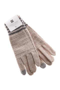 Shoptiques Product: Ivory Knit Gloves