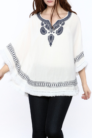Charmed by JLM Paisley Embroidered Poncho - Product Mini Image