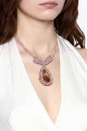 Charmed by JLM Pink Crystal Necklace - Back cropped
