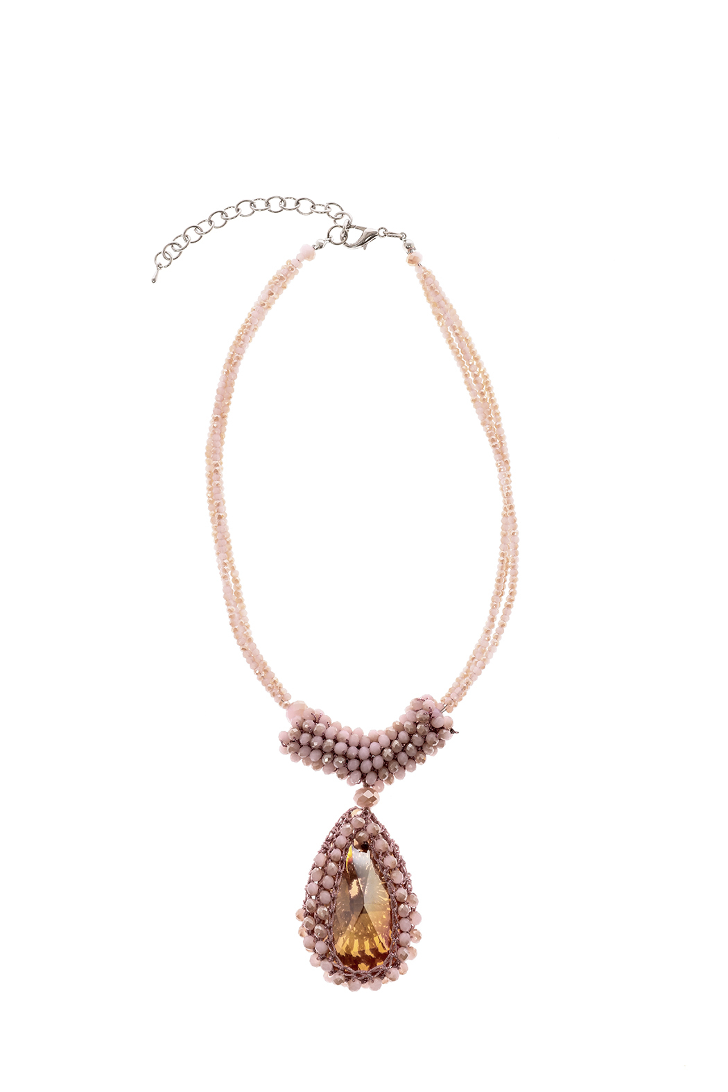 Charmed by JLM Pink Crystal Necklace - Main Image