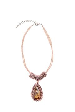 Shoptiques Product: Pink Crystal Necklace