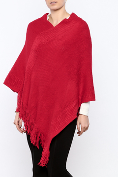 Shoptiques Product: Red Ruffle Poncho