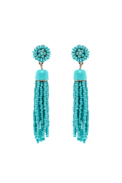 Shoptiques Product: Turquoise Drop Earrings