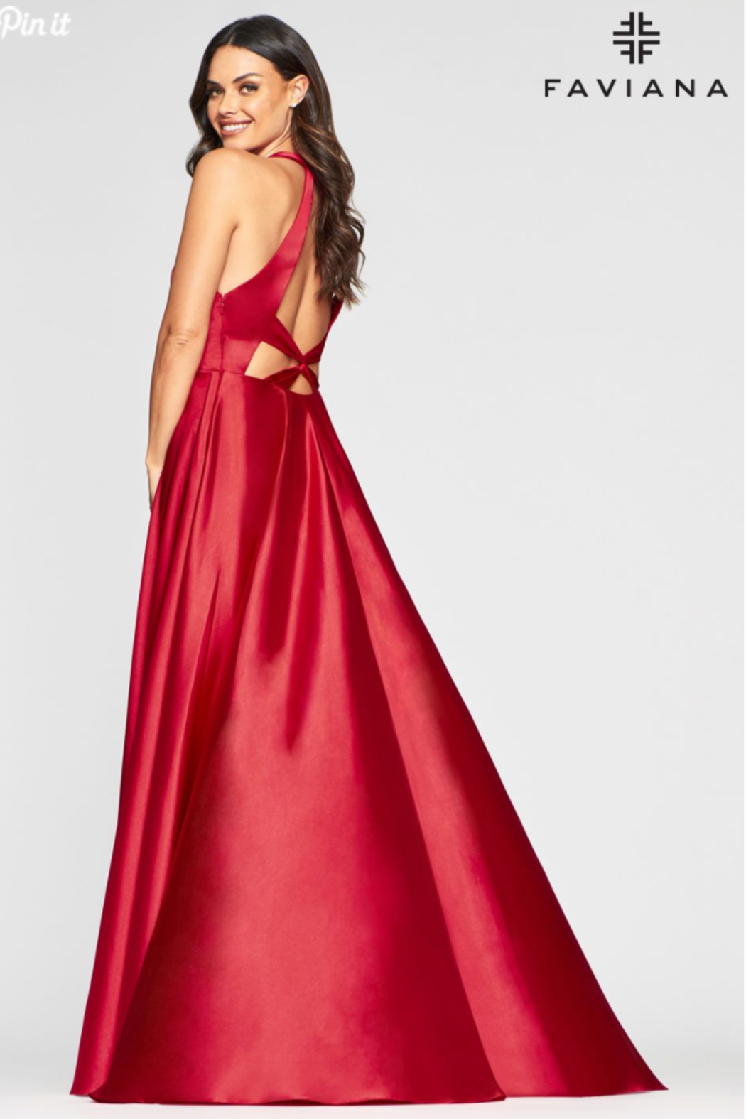 Faviana Charmeusse Halter Gown - Front Full Image