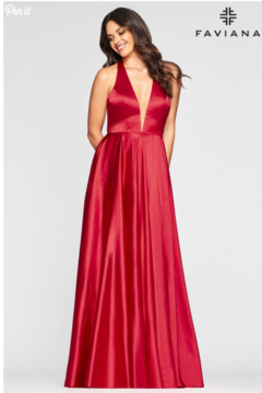 Faviana Charmeusse Halter Gown - Alternate List Image