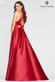 Faviana Charmeusse Halter Gown - Front full body