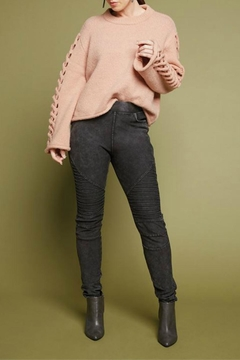 Coco + Carmen Charming Braided-Sleeve Sweater - Alternate List Image
