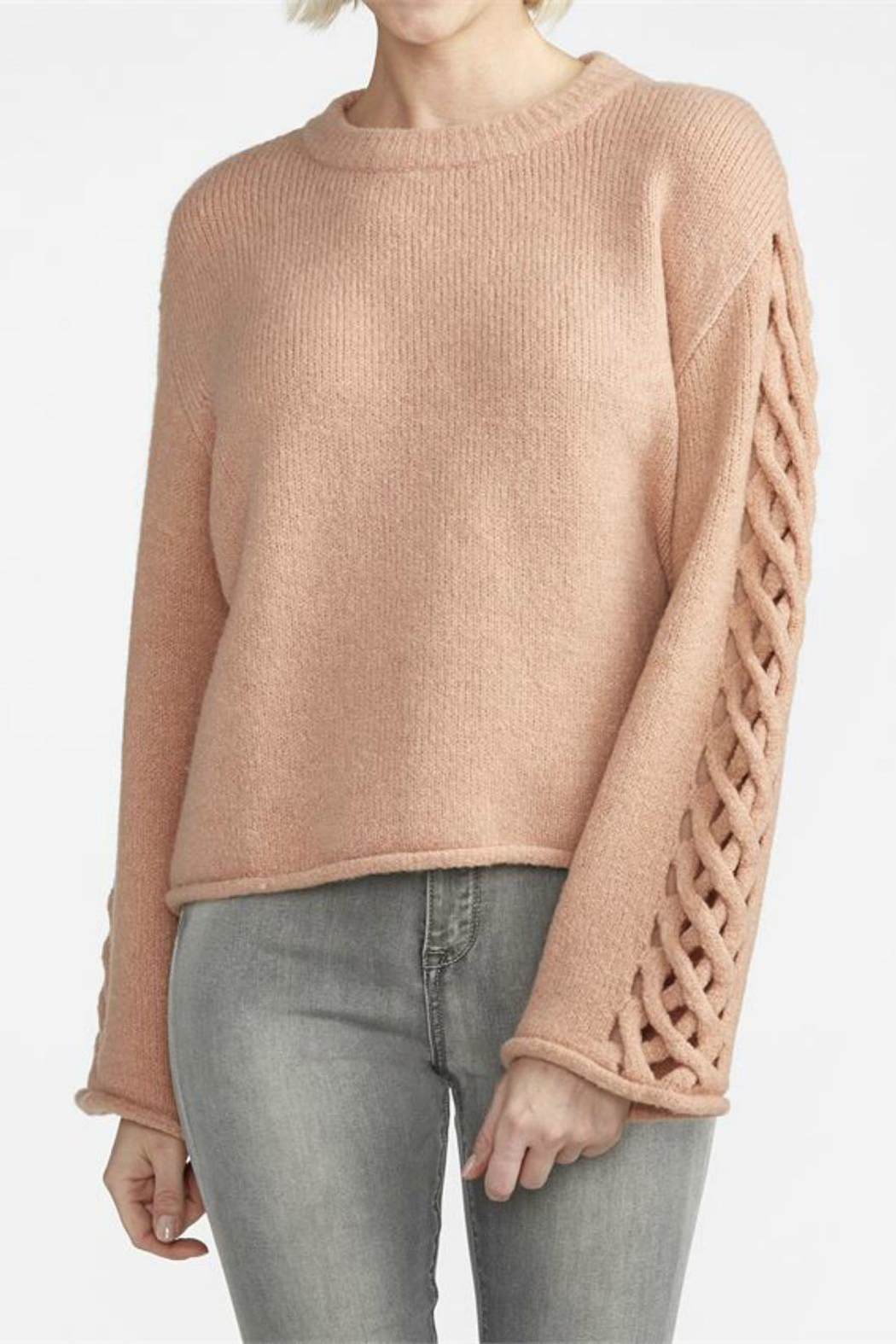 Coco + Carmen Charming Braided-Sleeve Sweater - Main Image