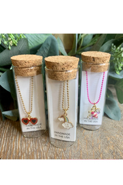 Little Miss Zoe Charming Necklace In A Bottle Assorted - Product Mini Image