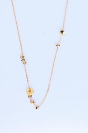 Aioty Charms Necklace Gold - Front full body