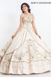 Mary's Bridal Charro Style Formal Gown in Ivory/Gold - Product Mini Image