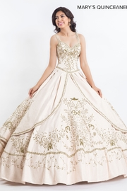 Mary's Quincenera Charro Style Quince Gown in Ivory/Gold - Product Mini Image