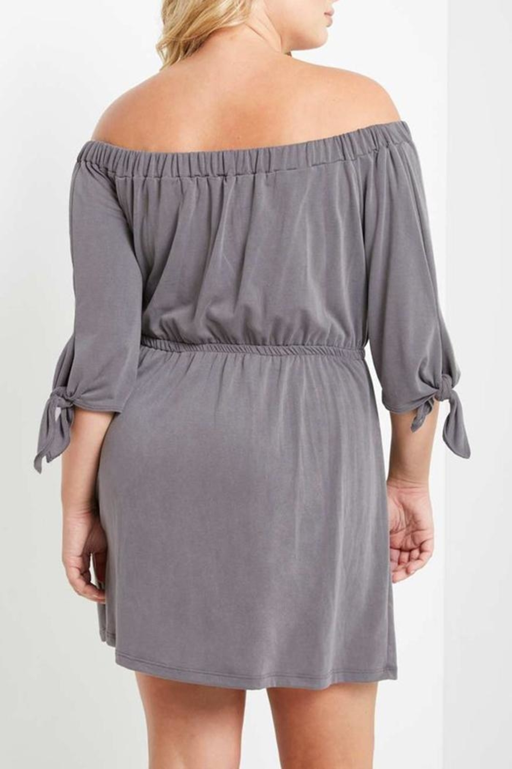 Mai Tai Charwal Off-Shoulder Dress - Back Cropped Image