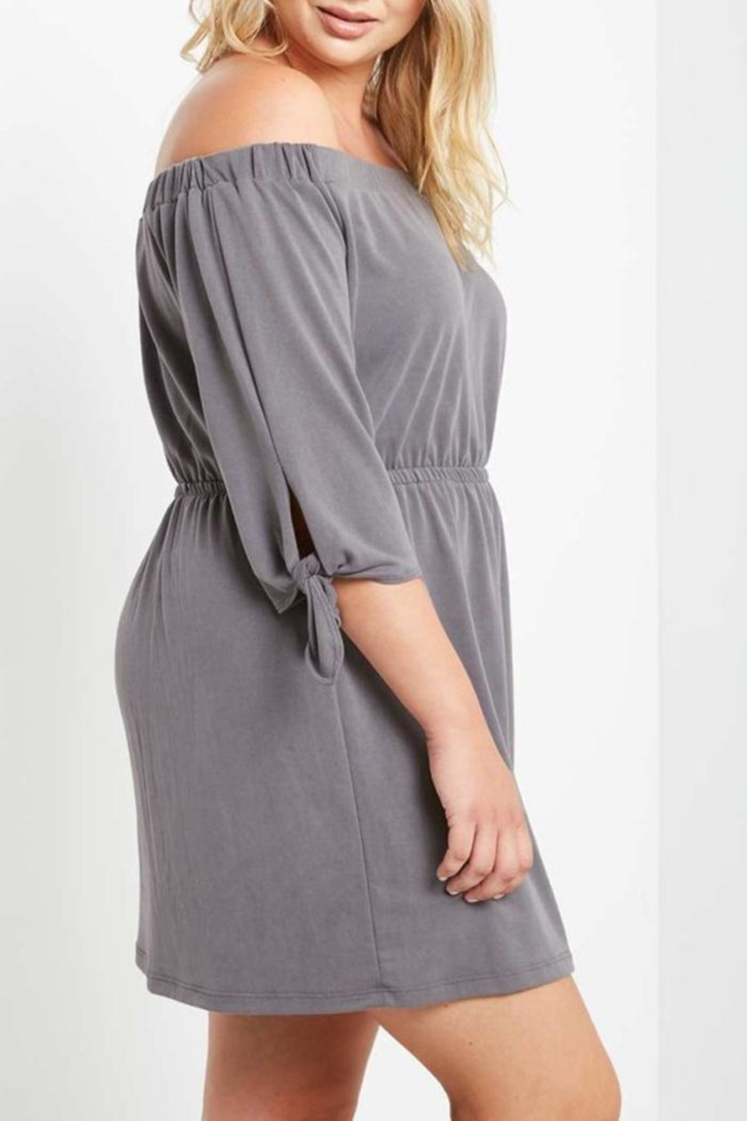 Mai Tai Charwal Off-Shoulder Dress - Side Cropped Image