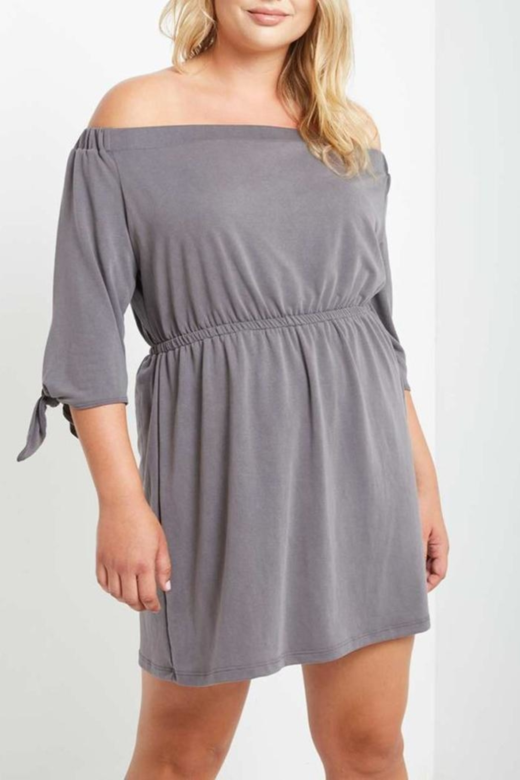 Mai Tai Charwal Off-Shoulder Dress - Front Full Image