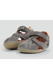 Bobux Chase Charcoal Sandal - Front cropped