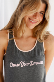 WORDSCOUNT Chase Your Dreams Tank + Pants Set - Front full body