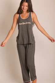 WORDSCOUNT Chase Your Dreams Tank + Pants Set - Front cropped