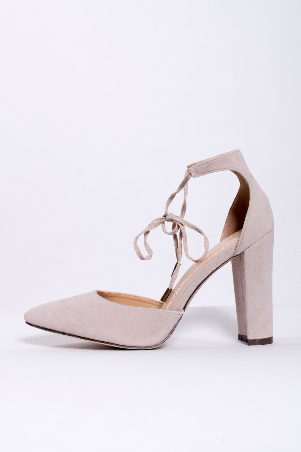 Chase & Chloe Ankle Tie Pump - Main Image