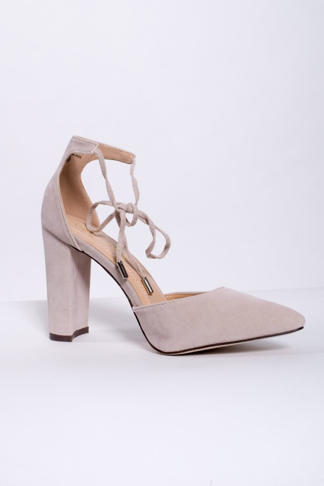 Chase & Chloe Ankle Tie Pump - Front Full Image