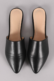 Chase & Chloe Black Mule Flats - Side cropped